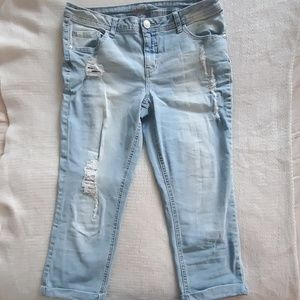 Girls Light Wash Justice Jeans